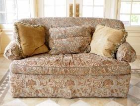 Wesley Hall skirted sofa