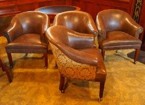 4 Hancock & Moore club chairs
