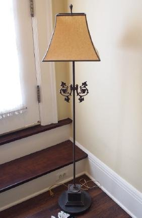 Patinated floor lamp