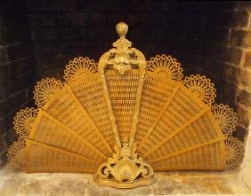 French brass fire screen