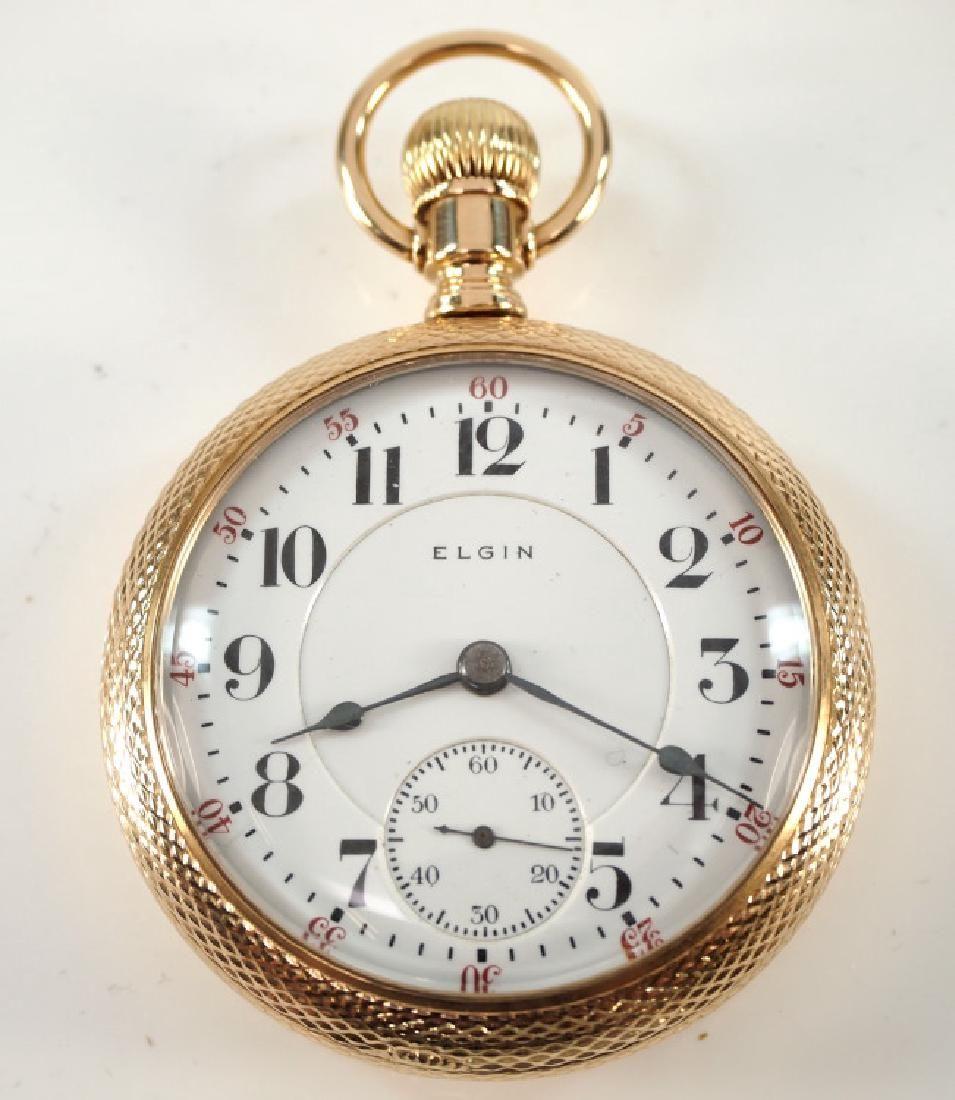 "Elgin 14k ""Veritas"" pocket watch"