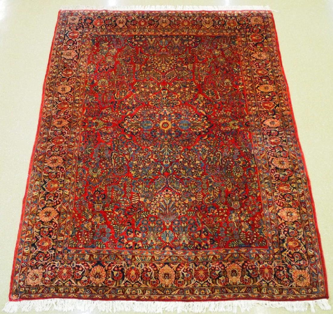 Persian Sarouk rug.