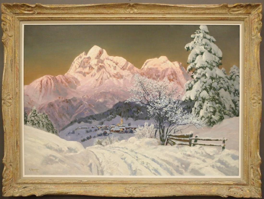 Arnegger Winter Mountain Landscape