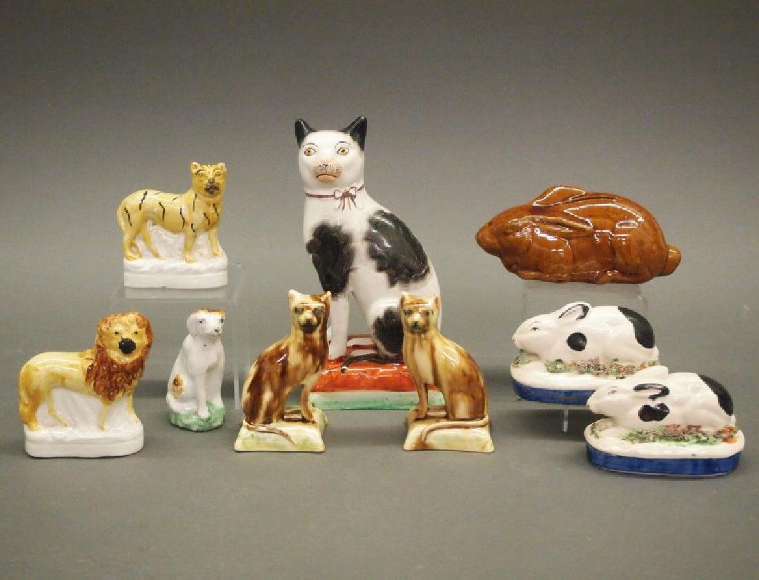 9 pcs Staffordshire animals