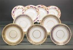 9 Royal Crown Derby plates