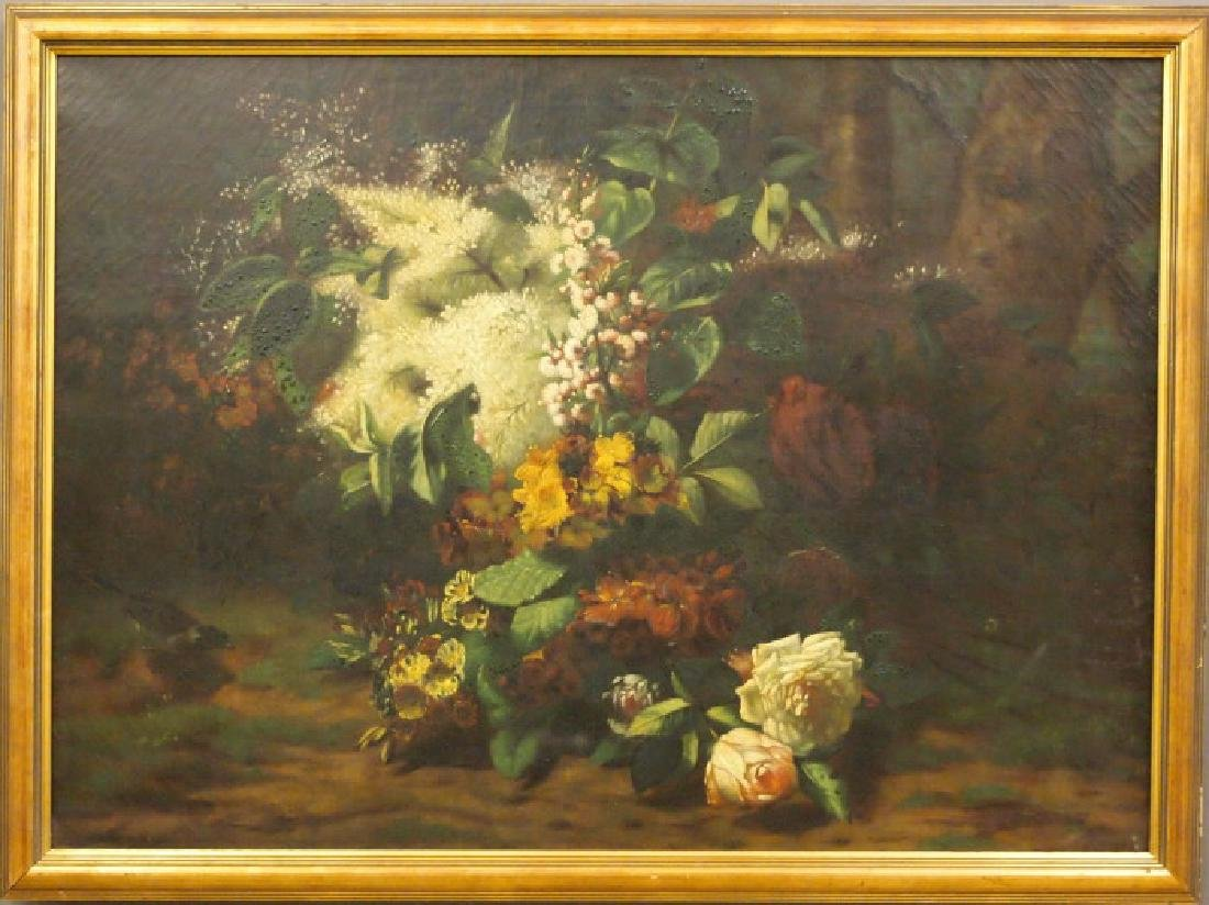 19th c Floral painting