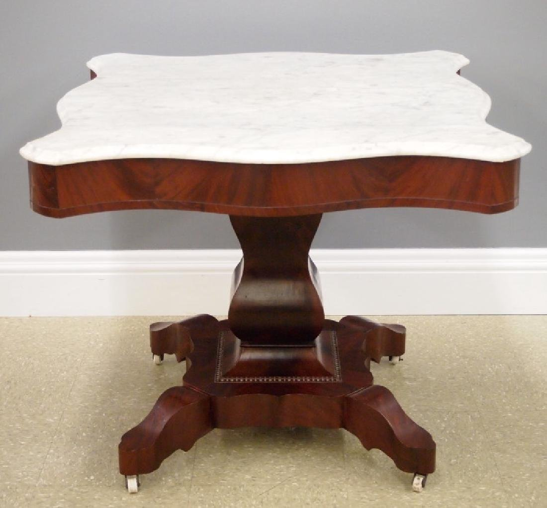 American Empire marble-top center table