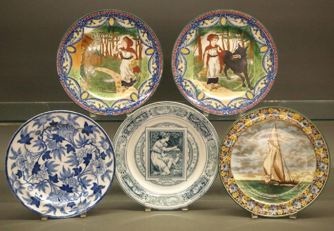 5 Wedgwood transfer plates