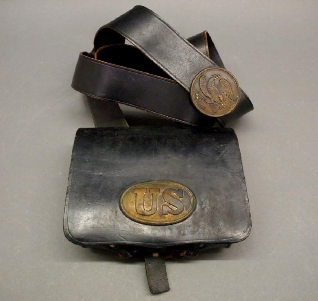 Civil War era cartridge box with strap