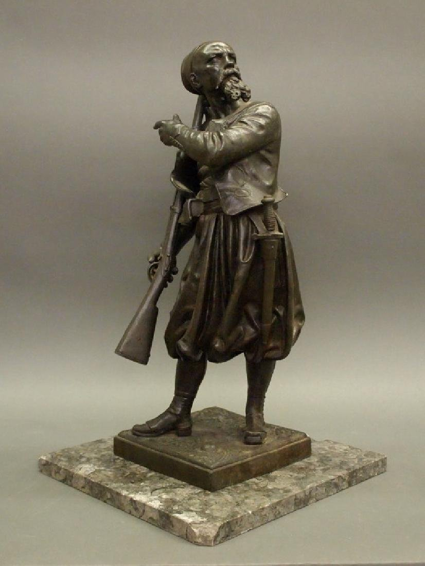 Patinated sculpture of a Zouave
