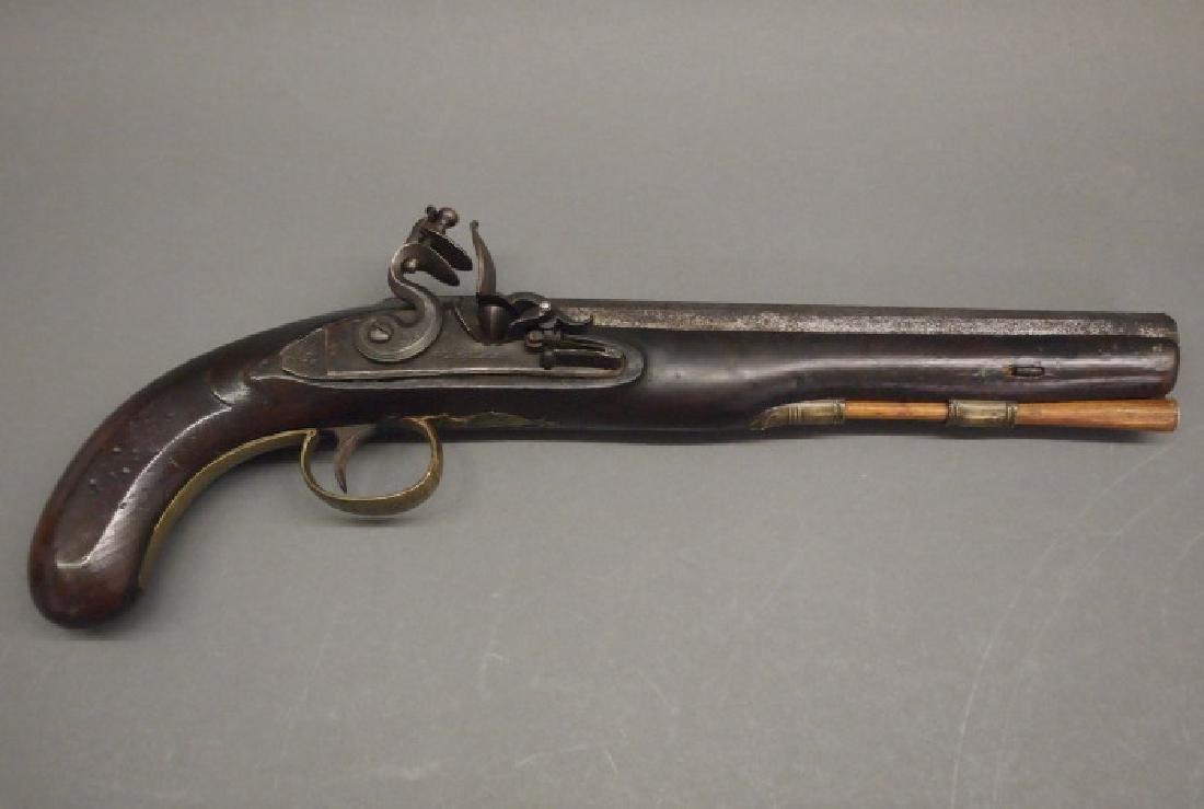 Wallace flintlock dueling pistol