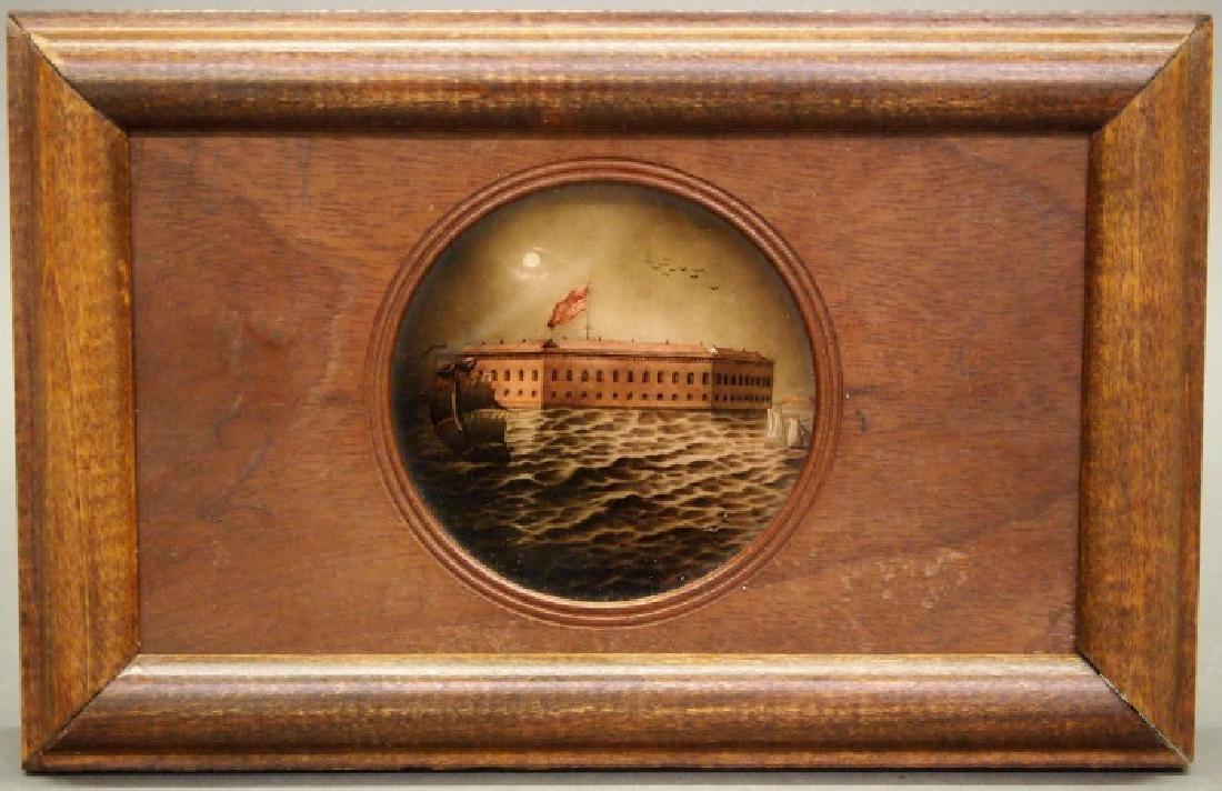 Fort Sumter/Civil War Magic Lantern slide