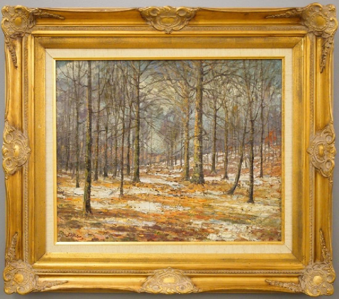 Attrib. George Herbert Baker oil on canvas