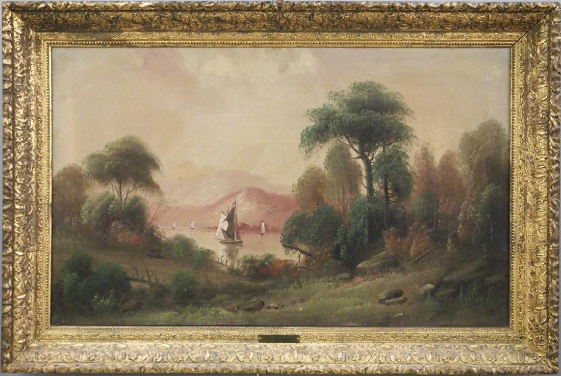 Pr of Hudson River style landscapes