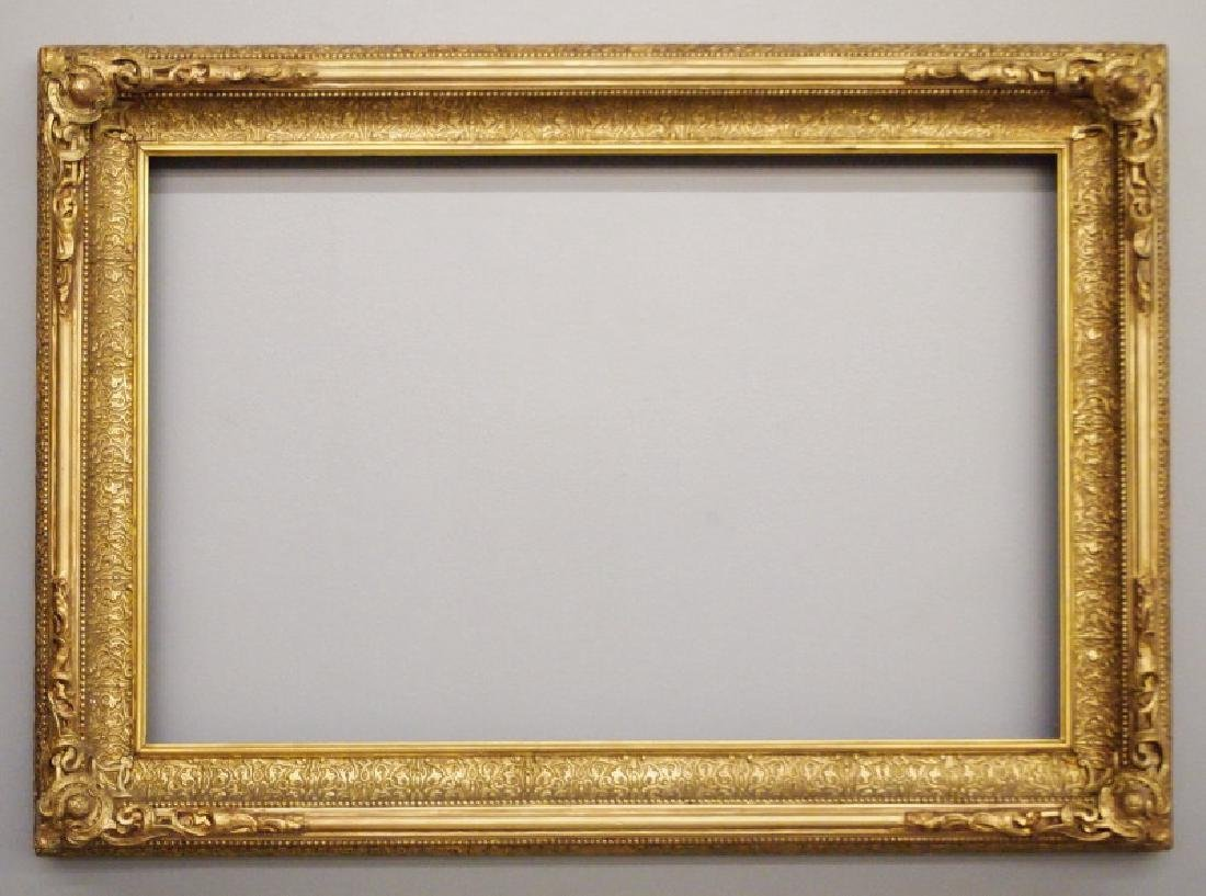 Circa 1875 gilt wood frame