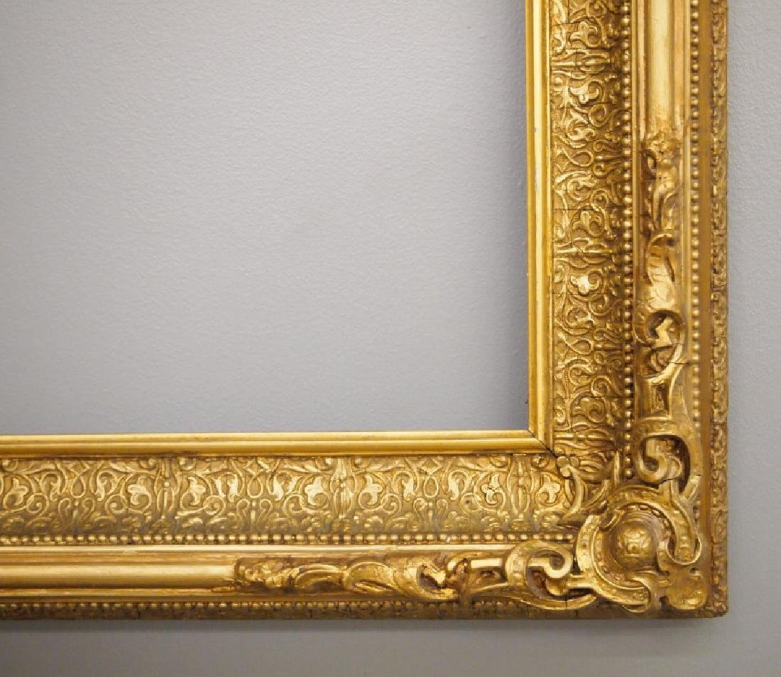 Circa 1875 gilt wood frame - 2