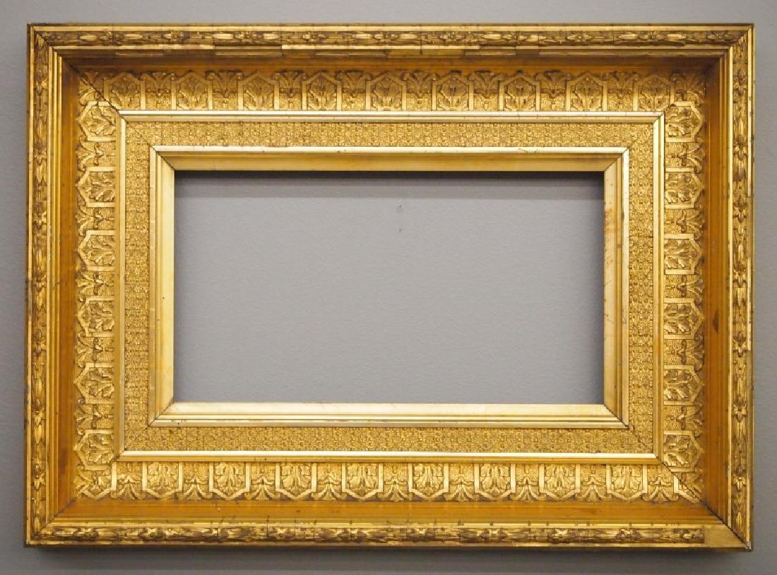 Circa 1875 gilt wood frame