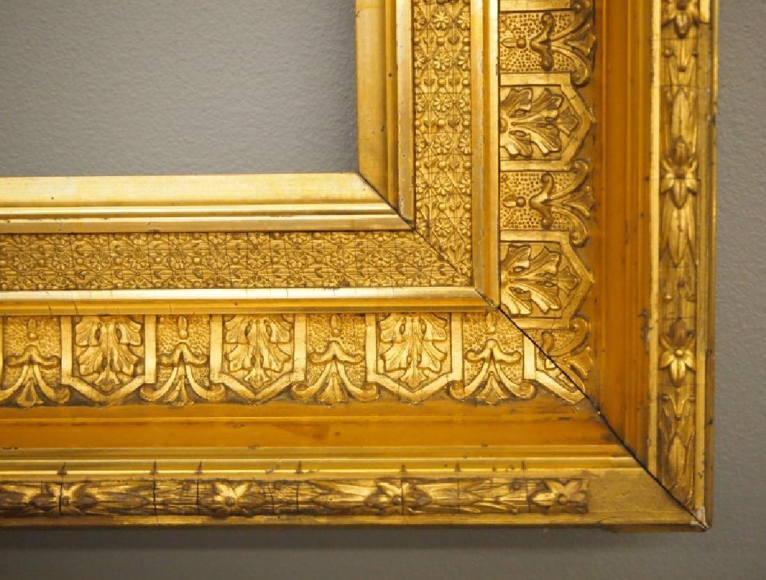 Circa 1875 gilt wood frame - 2