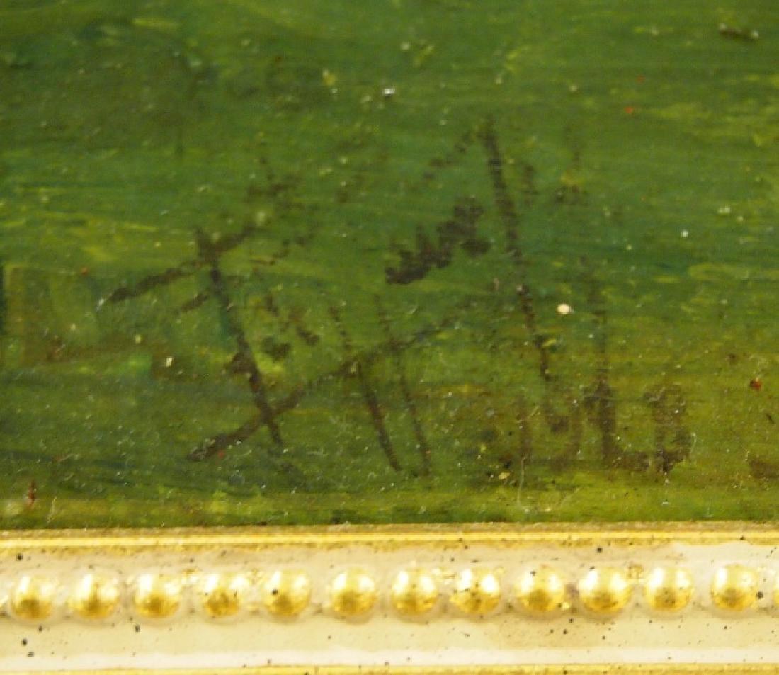 French school oil on board - 2