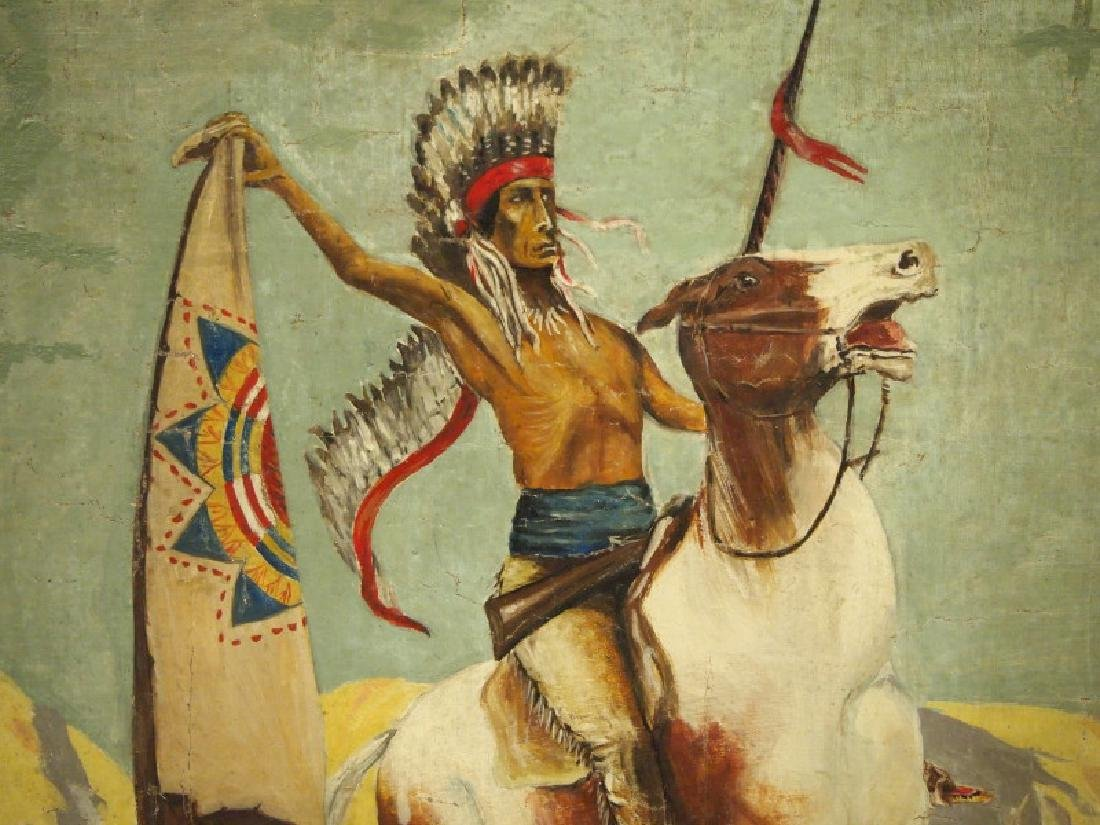 "Oil painting of ""The Sioux"" - 3"