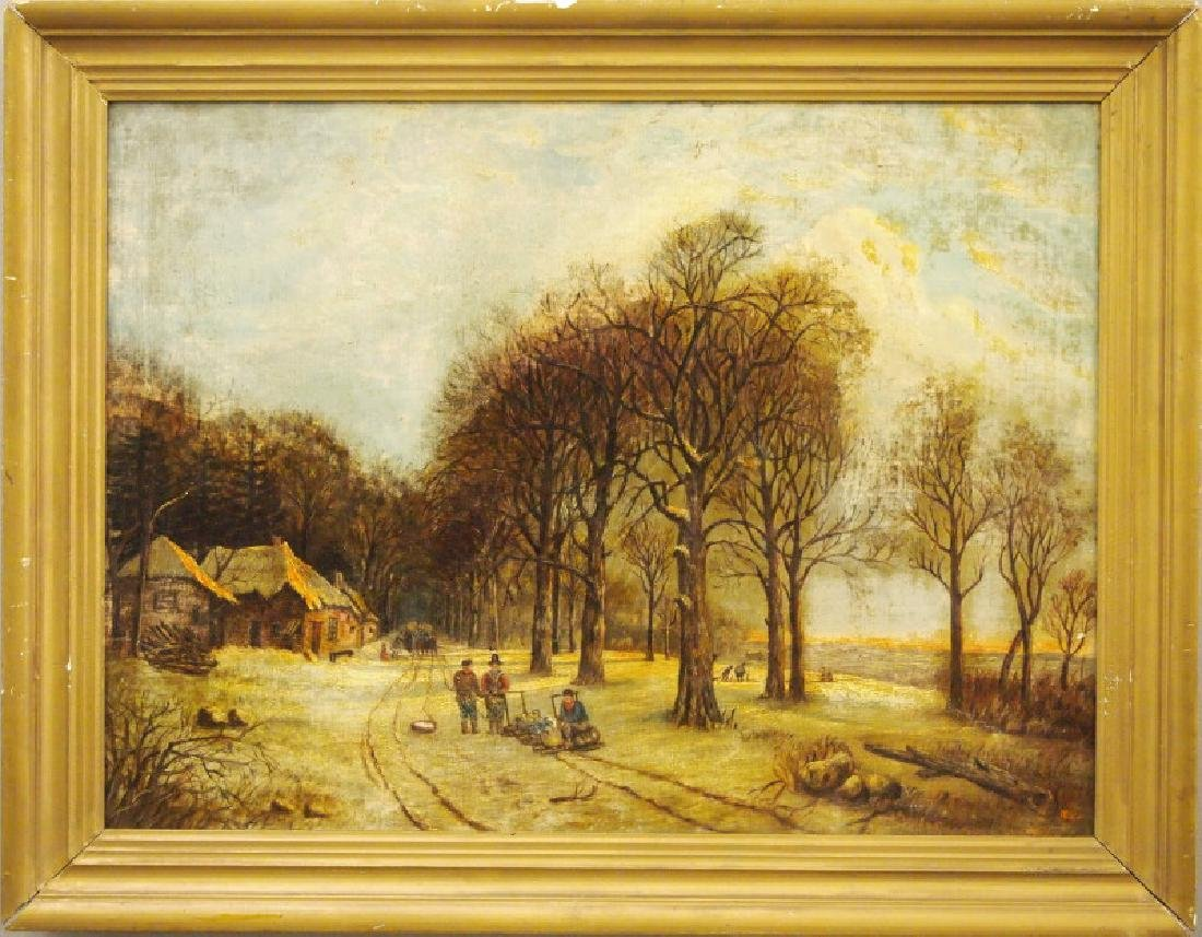 19th c American oil painting