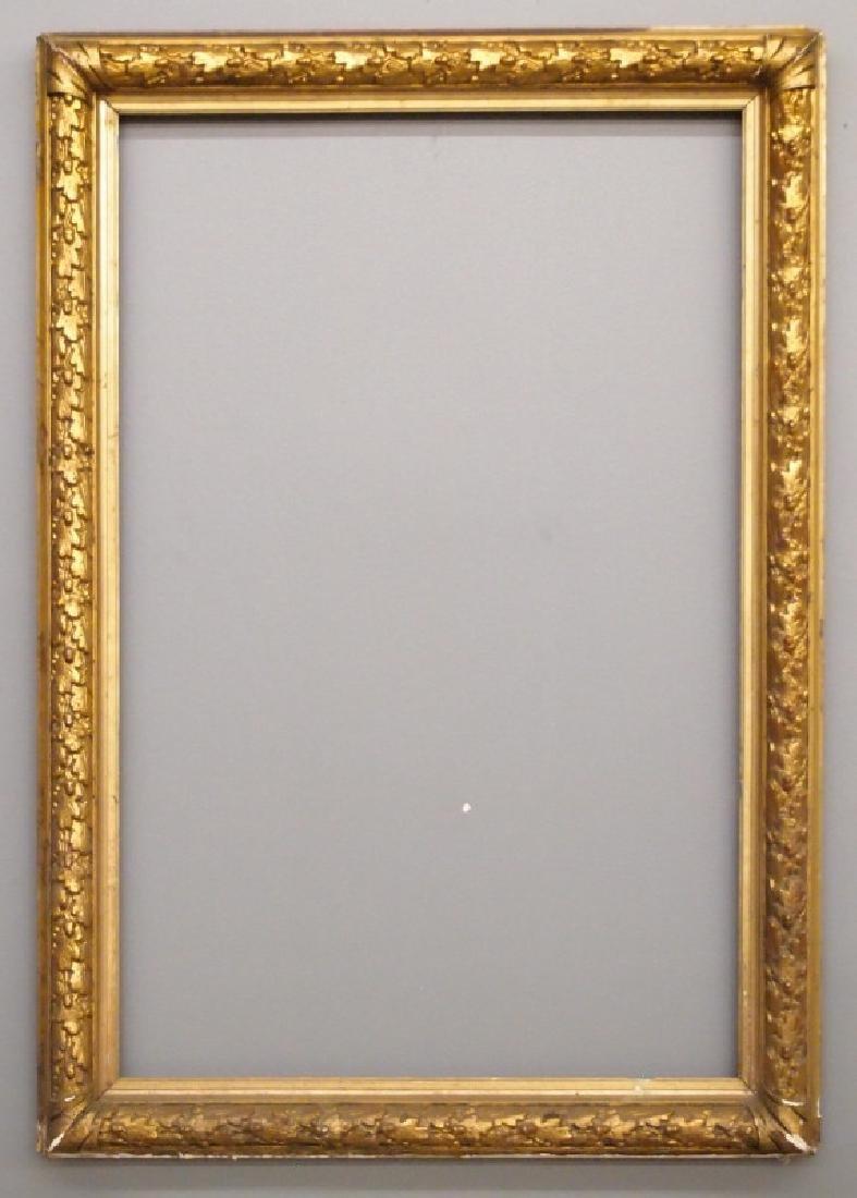 19th c American gilt gesso frame