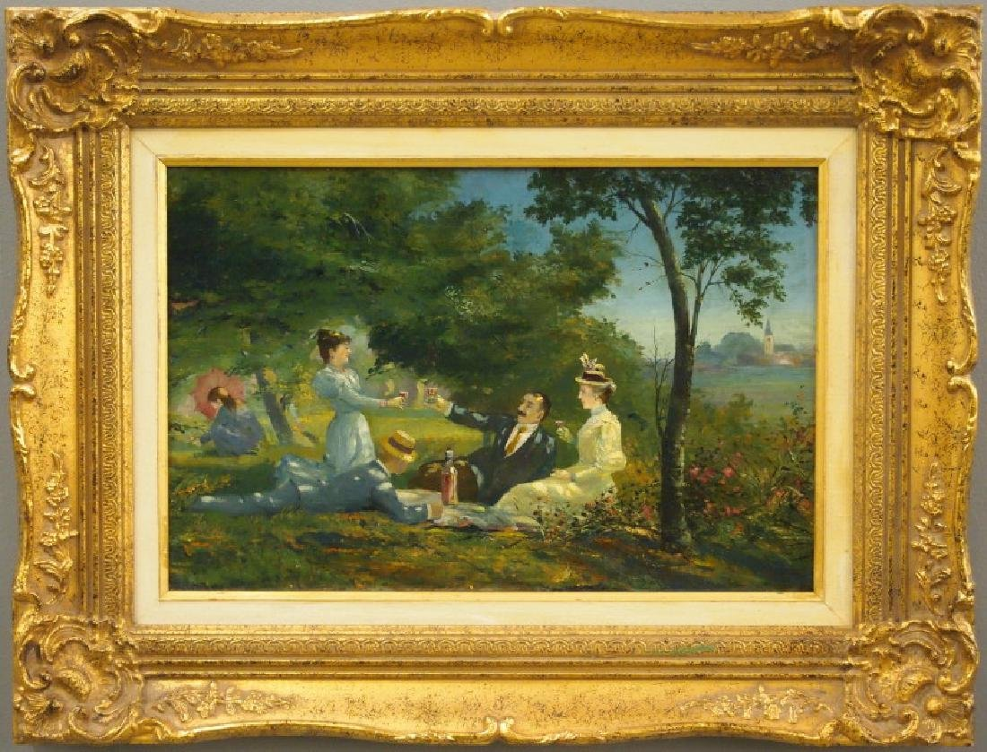 Oil painting, French picnic