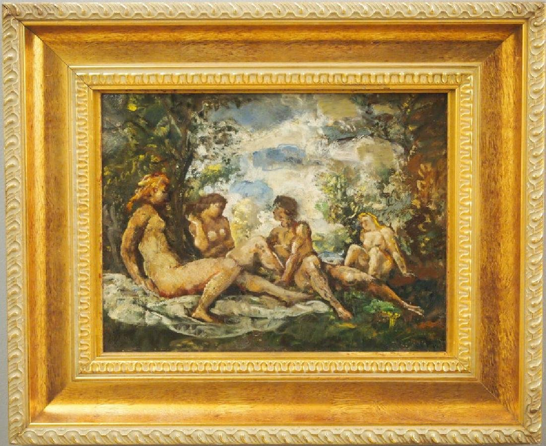 Attr to Herman Lipot oil painting