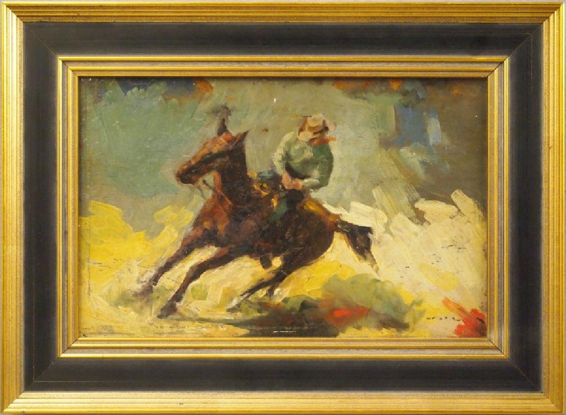 Cowboy oil painting