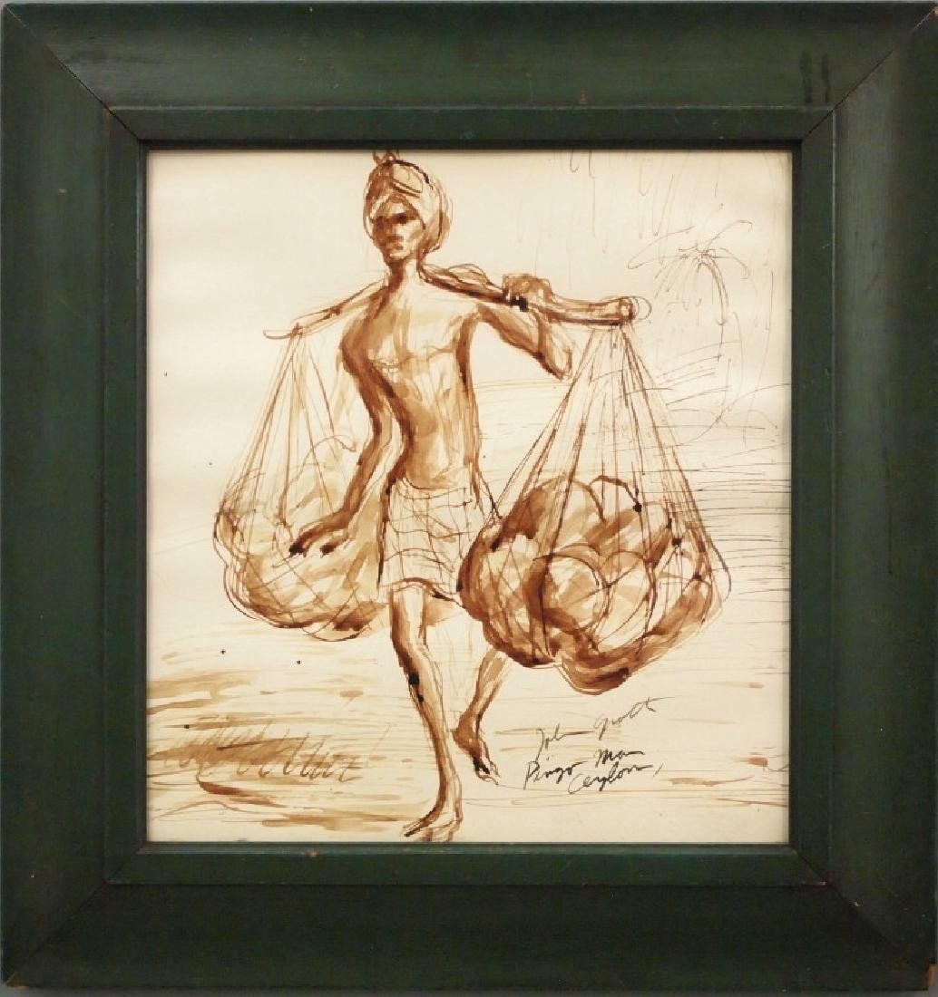 John August Groth watercolor