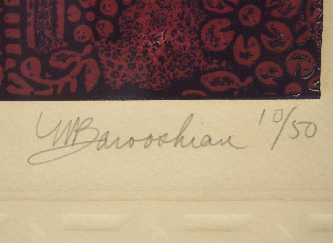 Barooshian intaglio etching - 3