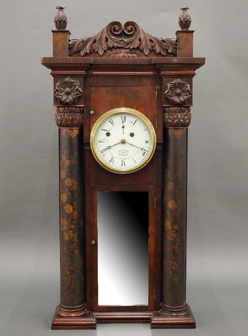 "Asa Munger ""Stovepipe"" clock"