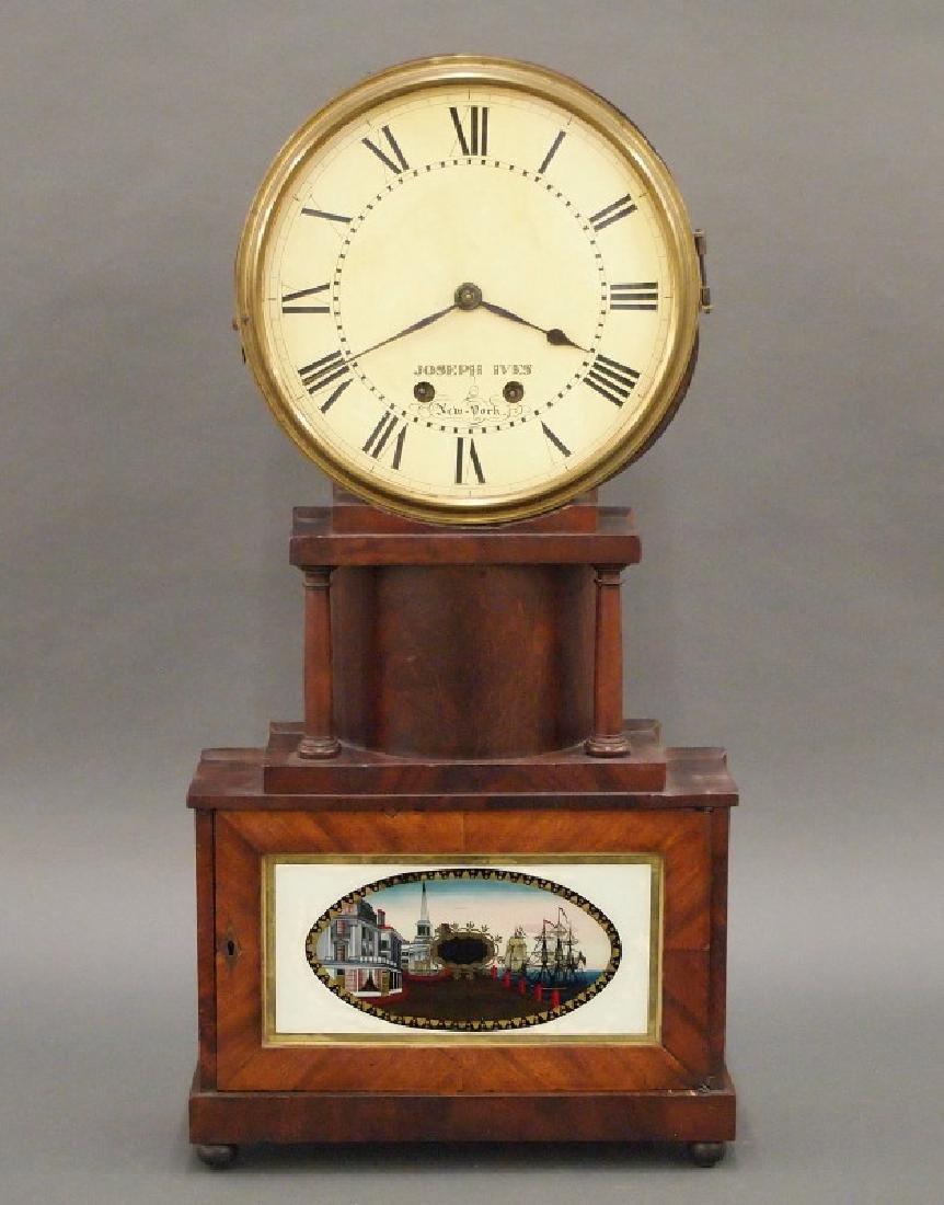 Joseph Ives wagon spring shelf clock