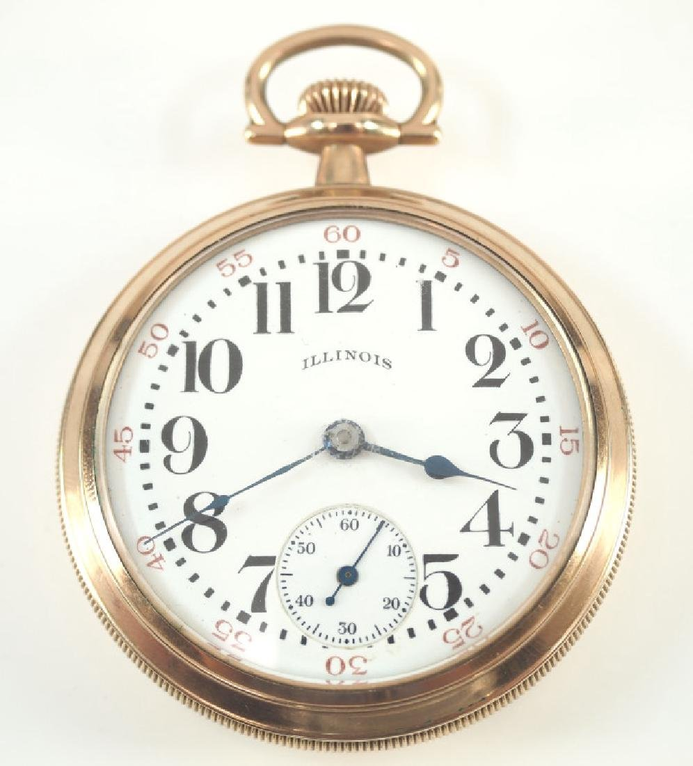 """Illinois Bunn Special """"Specially Adjusted"""" pocket watch"""