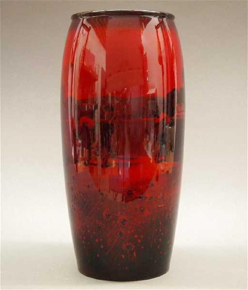 Royal Doulton Flambe Scenic Vase