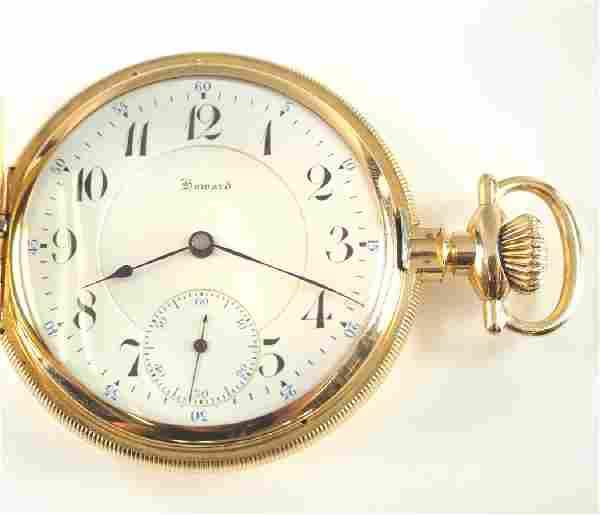 E Howard 14k gold pocket watch
