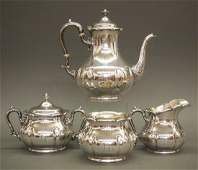 4 pcs Gorham Sterling tea set