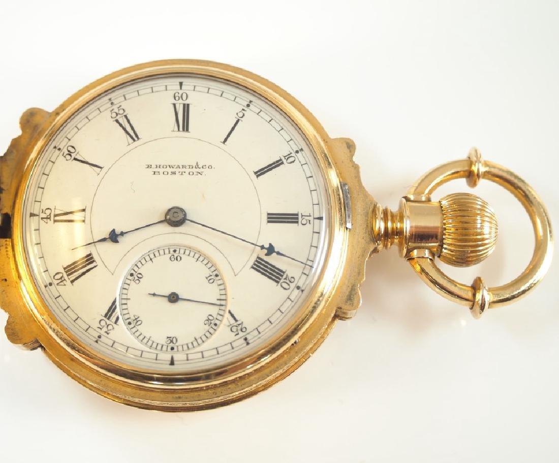 E Howard 18k  gold pocket watch