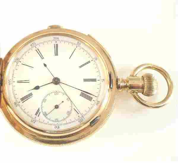 L Perregaux 14 k quarter hour repeating pocket watch