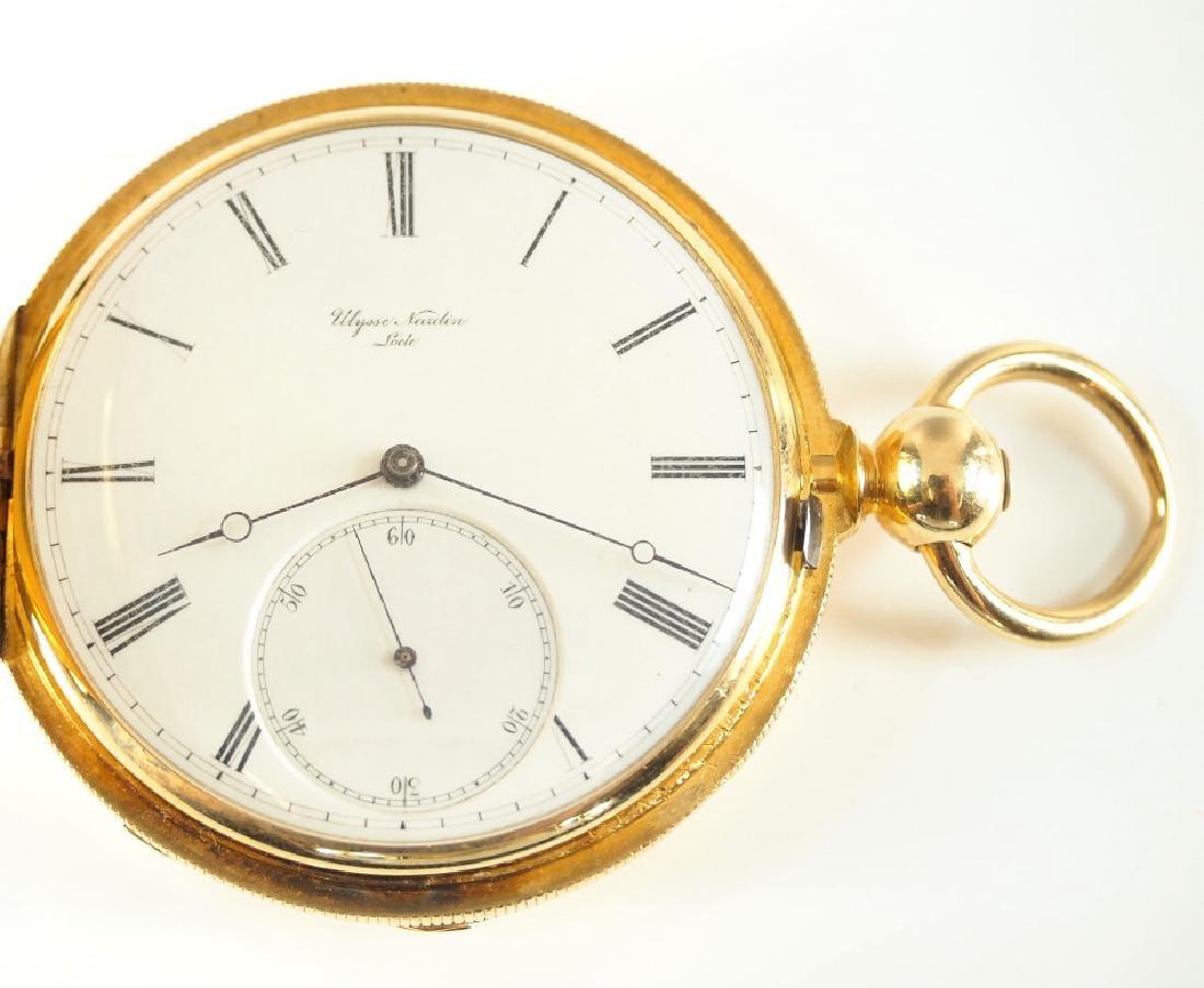 Ulysse Nardin 18k gold pocket watch