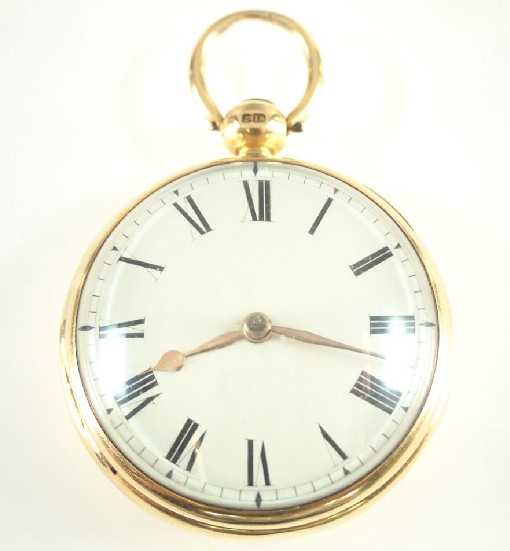 J G Palmer 18 k pocket watch