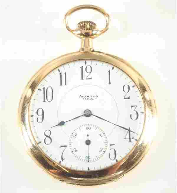 """Illinois """"Ariston"""" 14k pocket watch"""