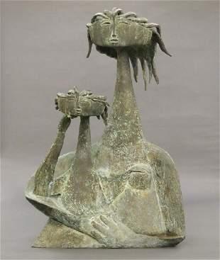 Angel Botello Bronze sculpture