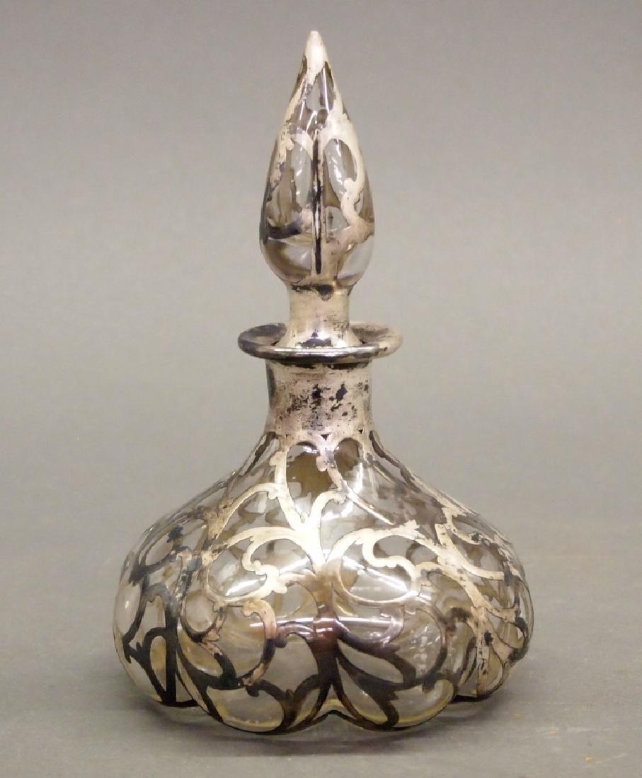 Alvin Sterling Overlay perfume bottle