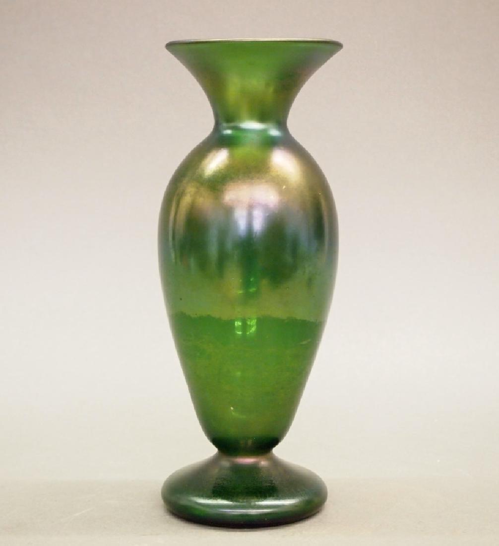 Quezal Iridescent vase