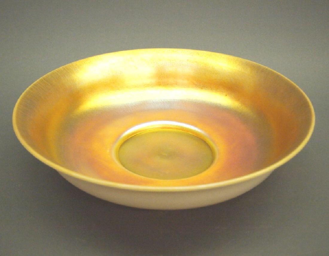 Steuben Aurene console bowl