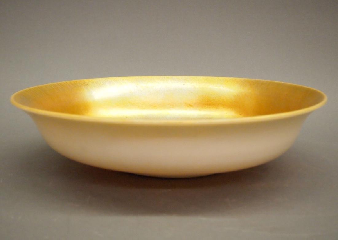 Steuben Aurene console bowl - 2