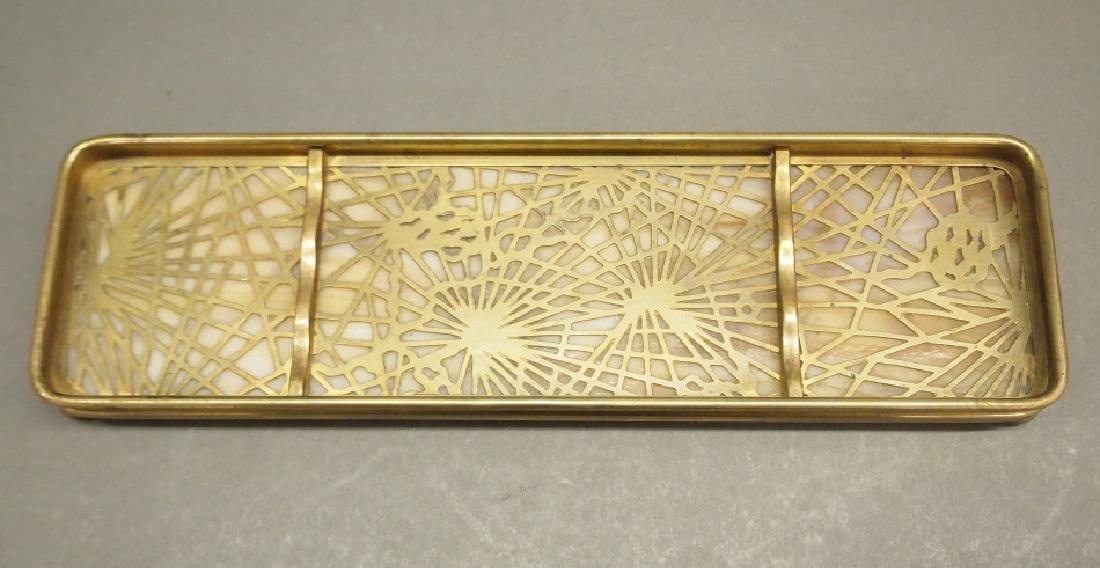 Tiffany Studios Pine Needle pen tray