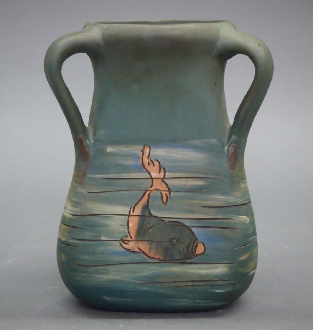 Weller Dickensware Fish vase