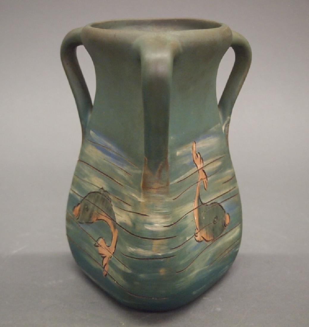 Weller Dickensware Fish vase - 2